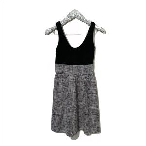 Express Black And White Mixed Media Dress Size 2